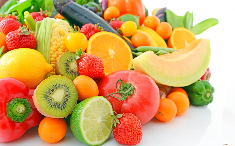 Красивая картинка фруктов и овощей